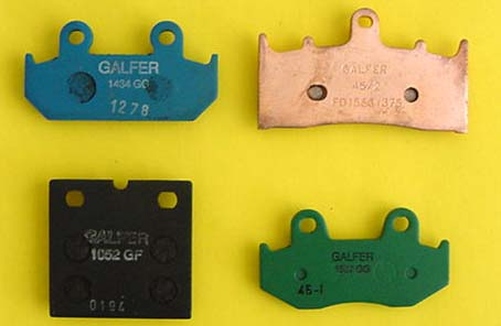 Galfer Brake Pad Compounds
